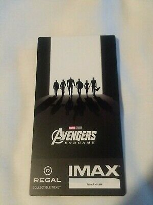 Marvel AVENGERS ENDGAME  Week 2 Collectible Regal IMAX Ticket #7 out of 1000
