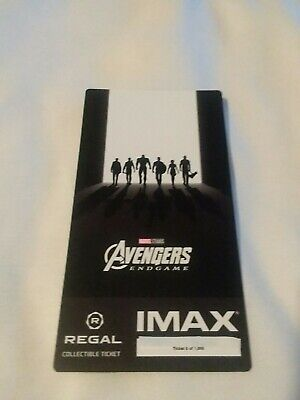 Marvel AVENGERS ENDGAME  Week 2 Collectible Regal IMAX Ticket #8 out of 1000
