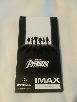 Marvel AVENGERS ENDGAME  Week 2 Collectible Regal IMAX Ticket #9 out of 1000