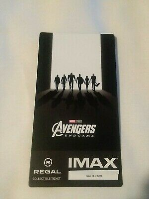Marvel AVENGERS ENDGAME  Week 2 Collectible Regal IMAX Ticket #10 out of 1000