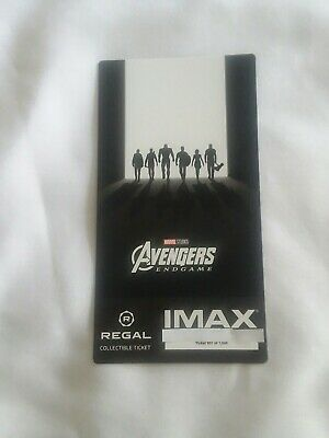 New Marvel AVENGERS ENDGAME  Week 2 Collectible Regal IMAX Ticket #100 of 1000