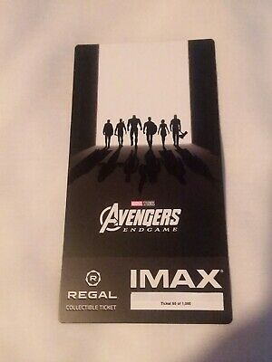 New Marvel AVENGERS ENDGAME  Week 2 Collectible Regal IMAX Ticket #50 of 1000