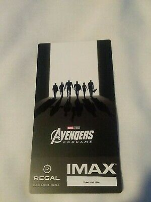 New Marvel AVENGERS ENDGAME  Week 2 Collectible Regal IMAX Ticket #25 of 1000