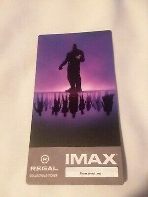 New Marvel AVENGERS ENDGAME  Week 1 Collectible Regal IMAX Ticket #150 of 1000