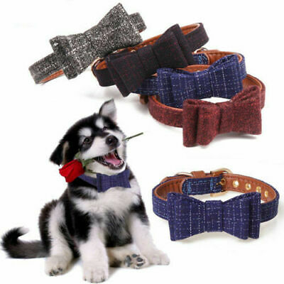 Adjustable Necklace Bow Tie Collars For Dog Pet Puppy Small Large Dog Collar