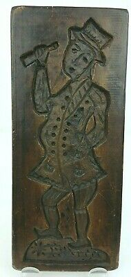 Hand Made Wood Carving Drinking Man Character Wall Hanging Vtg 1979 Clemens
