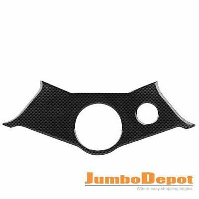 Pattern Top Yoke Carbon Fiber Looks Protective Cover Sticker For Yamaha R6 2005