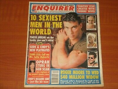 NATIONAL ENQUIRER Magazine UK: January 24th 1995 '10 Sexiest Men In The World'