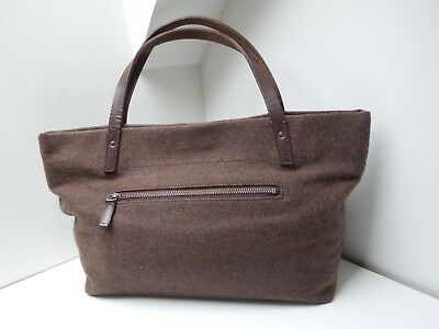 MHL Margaret Howell Brown Fabric Bag with a leather handle