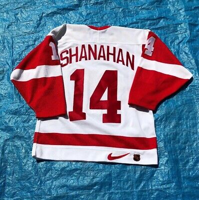 online store b7bd7 9b7d5 Vintage Calgary Flames Shanahan Hockey Jersey Authentic Fight Strap