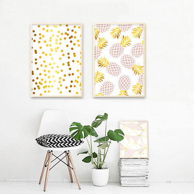 Pineapple Geometry Abstract Canvas Poster Art Print Modern Home Decoration