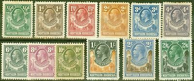 Northern Rhodesia 1925 set of 12 to 2s6d SG1-12 V.F Very Lightly Mtd Mint