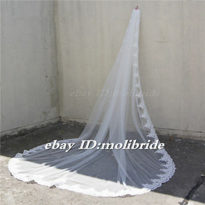 """1-Layers Wedding Veil 118"""" Long  Cathedral Bridal veils Accessories Veils"""