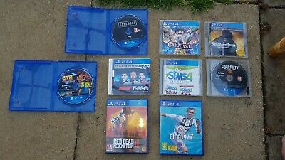Ps4 games bundle Of 9 CTR , DAYS GONE , BLACK OPS 4 , FIFA 19 , RDR 2 , SIMS 4