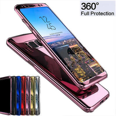 360° Full Body Plating Mirror Hard PC Case Cover for Samsung Galaxy S8 S9 Plus