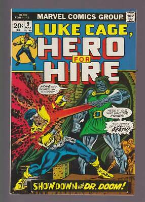 Hero for Hire # 9  Showdown with Dr.Doom !  grade 9.0 scarce book !