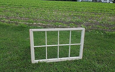 VINTAGE SASH ANTIQUE WOOD WINDOW PICTURE FRAME PINTEREST WEDDING 8 PANE 40x24
