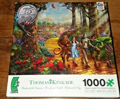 The Wizard Of Oz Puzzle 75th Anniversary Thomas Kinkade Collectors 1000 COMPLETE