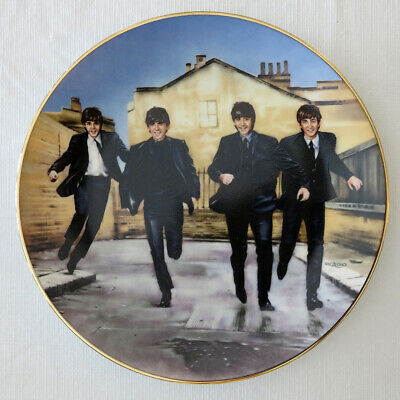 """THE BEATLES """"Hard Day's Night"""" Collector Plate; COA, Box, More - Never Displayed"""