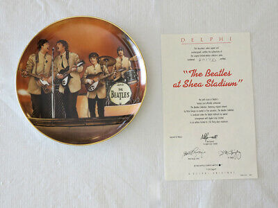 """THE BEATLES """"At Shea Stadium"""" Collector Plate; COA, Box, More - Never Displayed"""