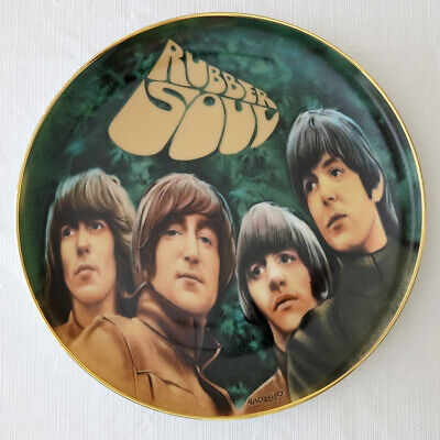 """THE BEATLES """"Rubber Soul"""" Collector Plate; with COA, Box, More - Never Displayed"""
