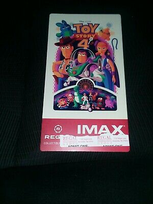 Toy Story 4 IMAX Regal Collectible Ticket Premiere Night #/1000 Free Poster Code