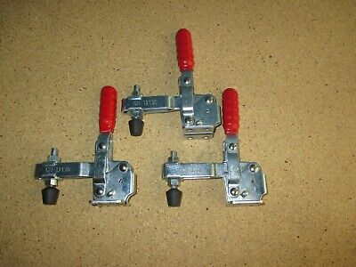 Lot of 3 DE-STA-CO Toggle Clamp GH-12130 Vertical Quick-Release Hand Tool 500lbs