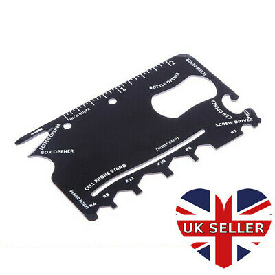 Credit Card Multi Tool With Bottle & Can Opener, Spanner, Screwdriver + More