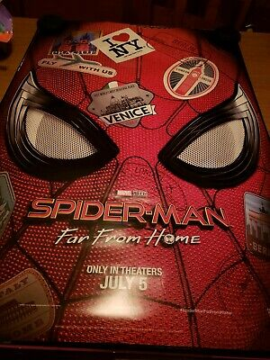 "Marvel SPIDER-MAN FAR FROM HOME 2019 Advance DS 2 Sided 27X40"" US Movie Poster"