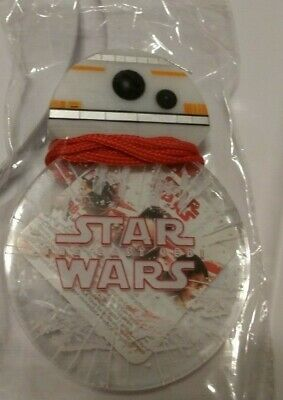 NEW Disney Parks Star Wars BB-8 DROID Light Up Glow Lanyard and Badge Necklace