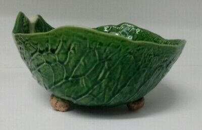 Vintage Secla rich Deep Cabbage or Lettuce Ware Bowl. Snails for 3 Little Legs.