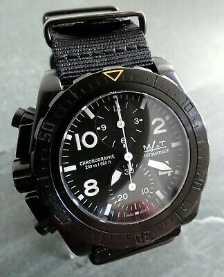 Mat Mer-Air-Terre Ag6Chl(Left) French Military Diver 7750 Chrono Watch Montre