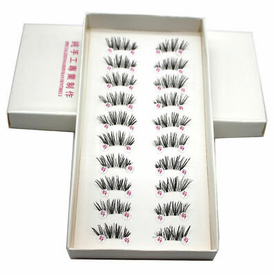 10 Pairs Handmade Cross False Eyelashes Half Mini Corner Winged Eye Lashes P7M9