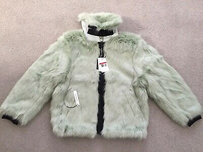 eed09828356a Nike x Ambush Unisex Faux Fur Reversible Jade Jacket Size Large New with  Tags