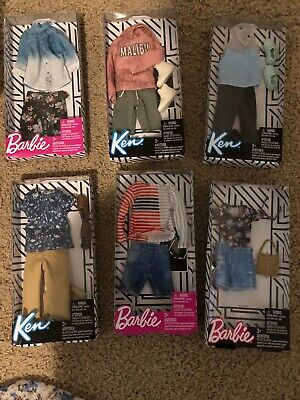 Barbie Ken Fashion Shirt & Pants clothing packs lot of 6!! NEW!! Never Opened!!
