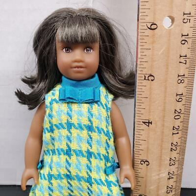 "American Girl MELODY ELLISON 6"" Inch Mini Miniature Doll w/ Dress - NICE HAIR!"