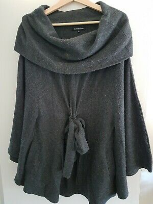 Isabella Oliver grey wool maternity cape/ poncho size 12M