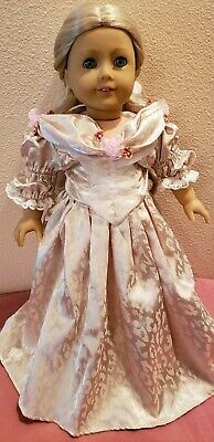 Victorian Dress for 18 Inch American Girl Doll and shoes Hopeless Romantic Brand