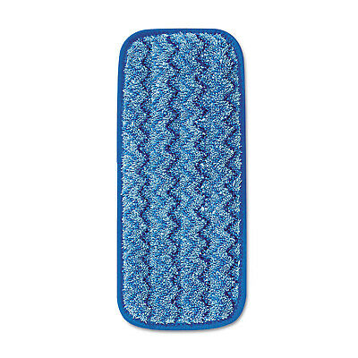 "Rubbermaid Commercial RCPQ820BLU  11"" Microfiber Wall / Stair Wet Pad - Blue"