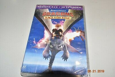 Dragons: Race to the Edge - Seasons 3 & 4 NR DVD discs 4 Subtitled