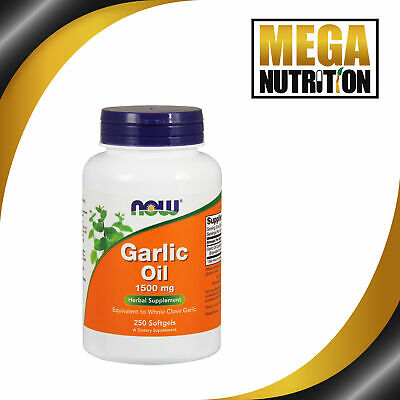 NOW Foods Garlic Oil 1500mg 250 Softgels | Boost Immune System Herbal Supplement