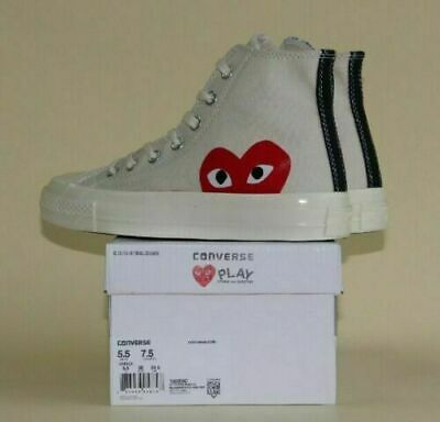 NEW COMME DES GARCONS PLAY Chuck Taylor x White Black