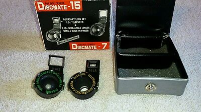 DISCMATE -15/7 Auxiliary Lens Set Telephoto and Wide Angle