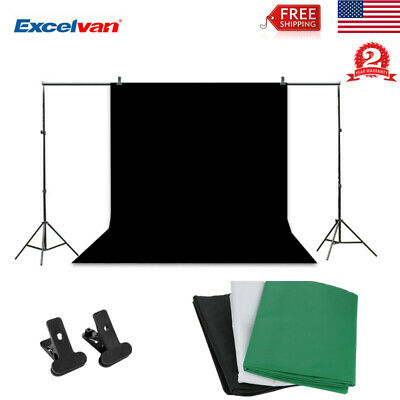 Photo Studio Photography Kit 10x6.5FT Stand 9x6FT Non-Woven Backdrop Background
