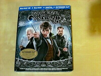 FANTASTIC BEASTS THE CRIMES OF GRINDELWALD (3D, Blu-ray, Incl. Digit. Copy *NEW)