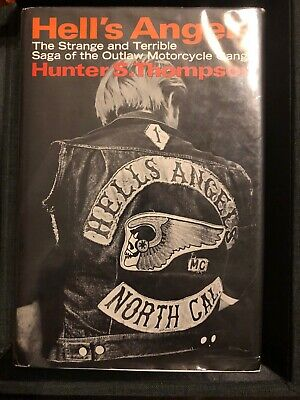 Hunter S. Thompson Signed Hell's Angels book Sonny Barger 1st Edition Mint Rare