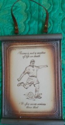 Swagman Pottery Soccer Plaque 2005