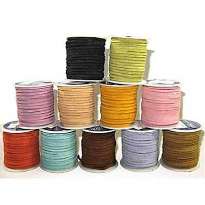 "Sof-Suede Lace 3/32"" x 50 Feet - Realeather Leather Lacing Spool Craft Cord"