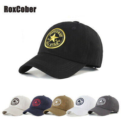 Fashion Embroidery Baseball Cap Men's Women's Cotton Solid Sport Hats Adjustable