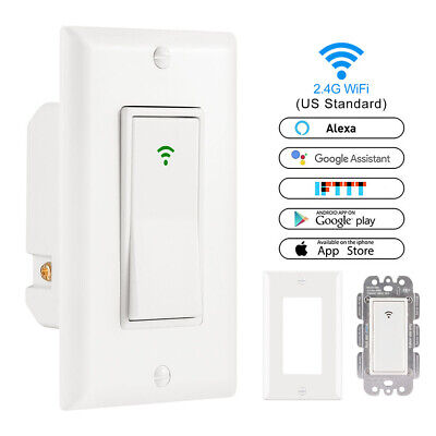 Control 1 Gang Timer Touch Panel Wifi Wall Switch LED Light Dimmer Smart Home